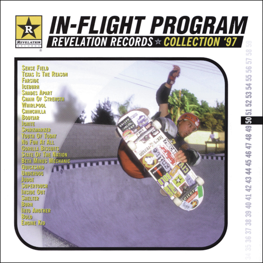 "REV050-2 V/A ""In-Flight Program"" CD Album Artwork"