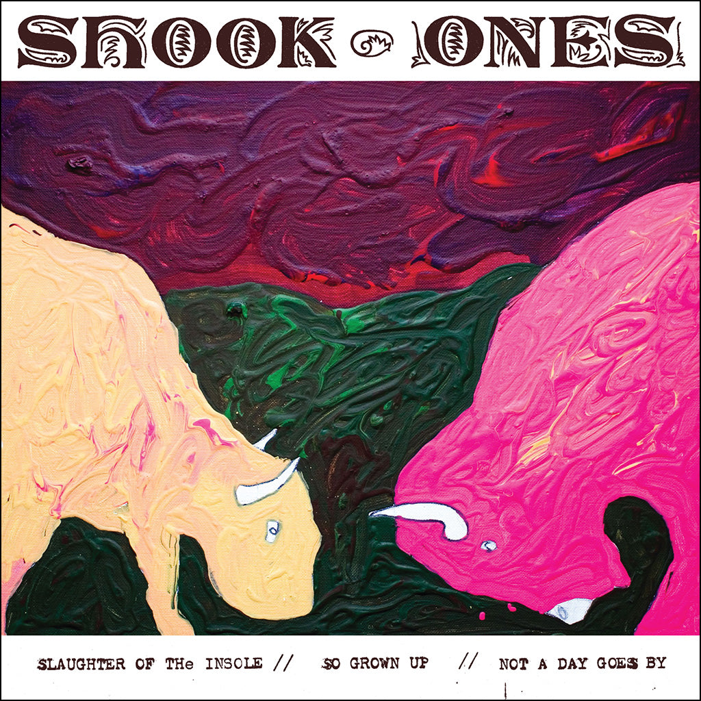 "REV134-1 Shook Ones ""Slaughter Of The Insole"" 7"" Album Artwork"