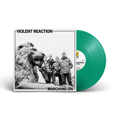 "REV158-1 Violent Reaction ""Marching On"" LP Mockup Green"