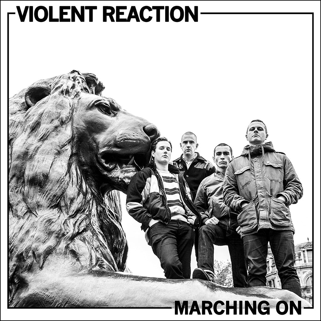 "REV158 Violent Reaction ""Marching On"" LP/Cassette Album Artwork"