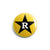 "REVBTN01 Revelation Records ""Yellow Star"" -  Button"