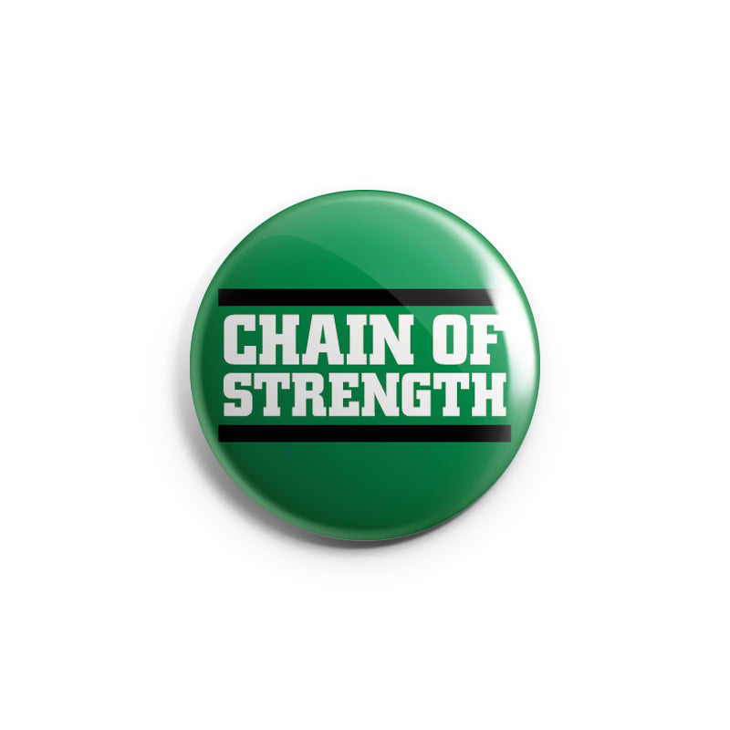 "REVBTN10 Chain Of Strength ""Logo"" -  Button"