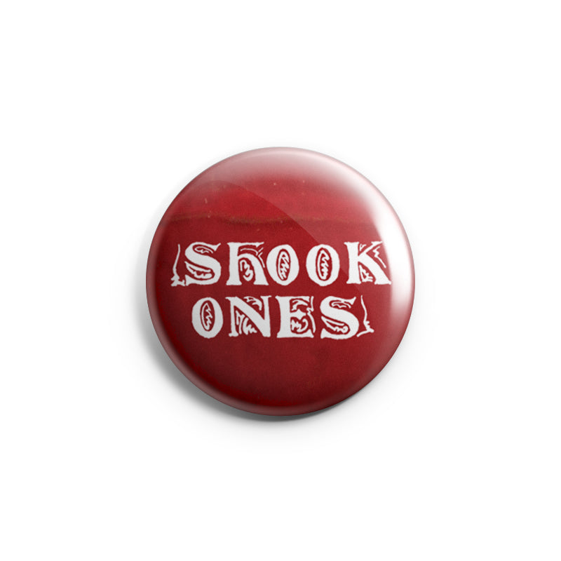 "REVBTN142 Shook Ones ""Logo (red)"" - Button"