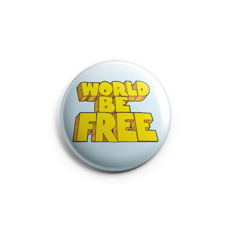 "REVBTN162 World Be Free ""Logo"" - Button"