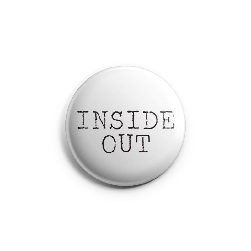 "REVBTN26 Inside Out ""Logo (Black On White)"" -  Button"