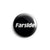 "REVBTN45 Farside ""Logo (White On Black)"" -  Button"