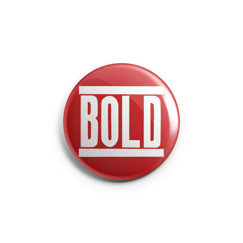 "REVBTN85 Bold ""Logo (White On Red)"" -  Button"