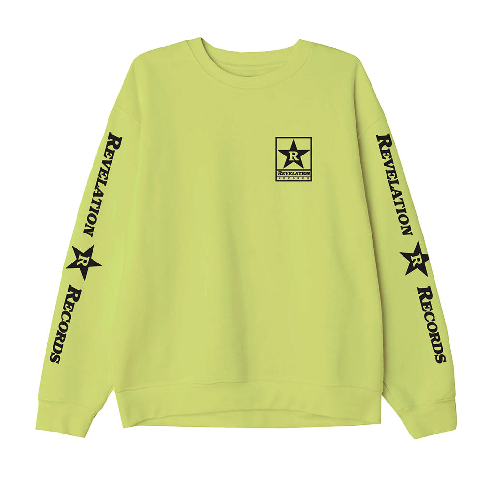 "Revelation Records ""Logo (Neon Yellow)"" - Crew Sweatshirt"