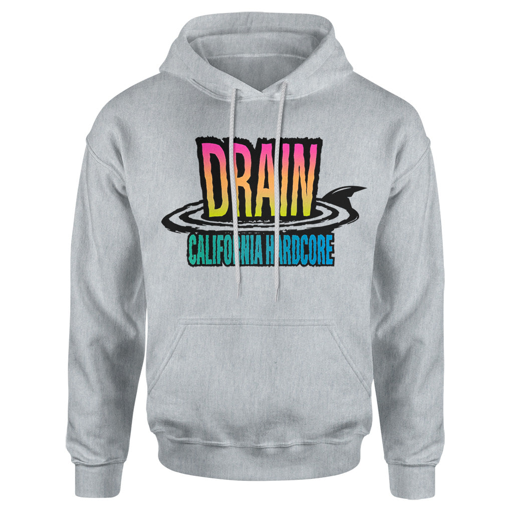 "REVHS182S Drain ""California Hardcore"" - Hooded Sweatshirt Front"