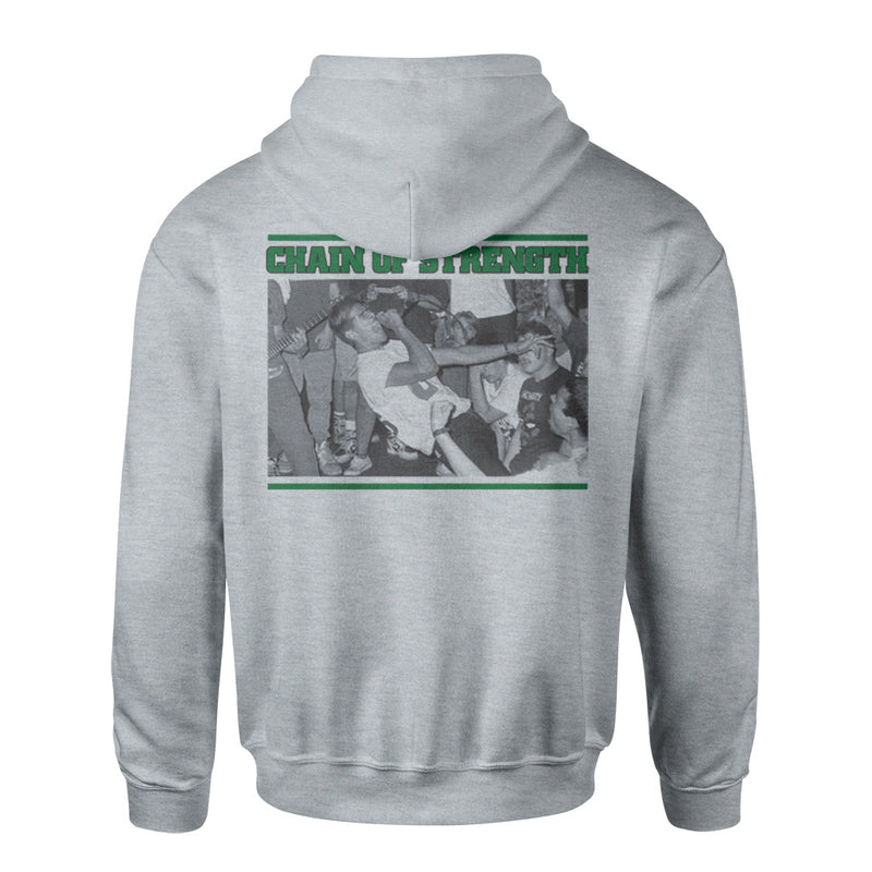 "REVHS29S Chain Of Strength ""The One Thing That Still Holds True (Grey)"" -  Hooded Sweatshirt Front"