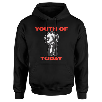 "REVHS32 Youth Of Today ""Positive Outlook (Black)"" - Hooded Sweatshirt Front"