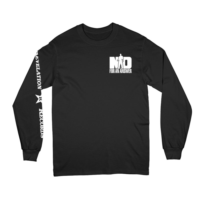 "REVLS06S No For An Answer ""Orange County Hardcore"" - Long Sleeve Front"