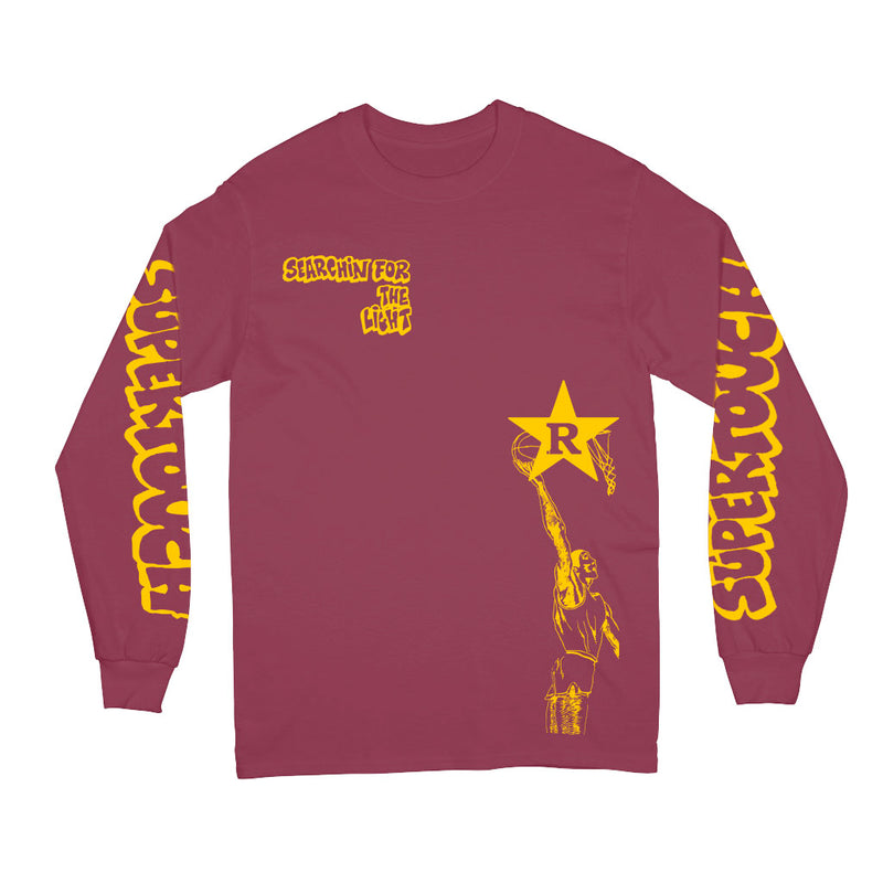"Supertouch ""Searchin' For The Light (Maroon)"" - Long Sleeve T-Shirt"