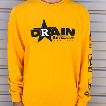 "Drain ""Rev Logo (Yellow)"" - Long Sleeve"