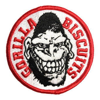 "Gorilla Biscuits ""Gorilla"" - Embroidered Patch (Black, Red, And White)"