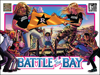 "Torso / Urban Sprawl ""Battle Of The Bay"" - Poster"