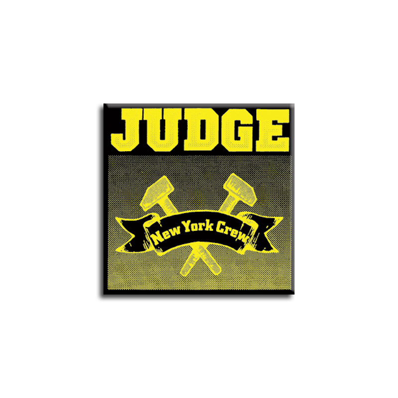 "REVSQB014 Judge ""New York Crew"" -  Button (1"" Square Button)"