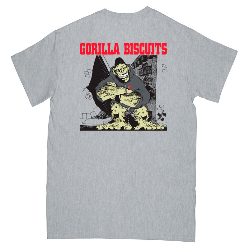 "REVSS03AS Gorilla Biscuits ""Hold Your Ground (Grey)"" -  T-Shirt Front"