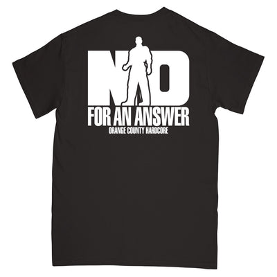 "REVSS06S No For An Answer ""Orange County Hardcore (Black)"" -  T-Shirt Back"