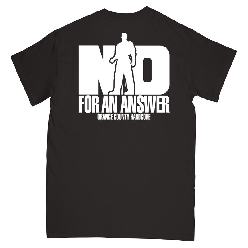 "REVSS06S No For An Answer ""Orange County Hardcore (Black)"" -  T-Shirt Front"