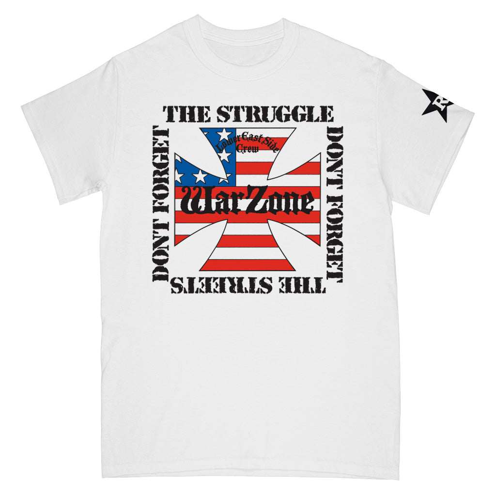 "REVSS163 Warzone ""Don't Forget The Struggle Don't Forget The Streets"" - T-Shirt Front"