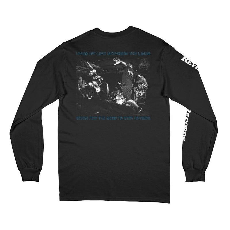 "REVLS167 Search ""Between The Lines"" - Long Sleeve T-Shirt Front"