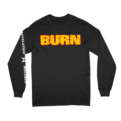 "REVLS22S Burn ""Shall Be Judged (Black)"" - Long Sleeve Front"