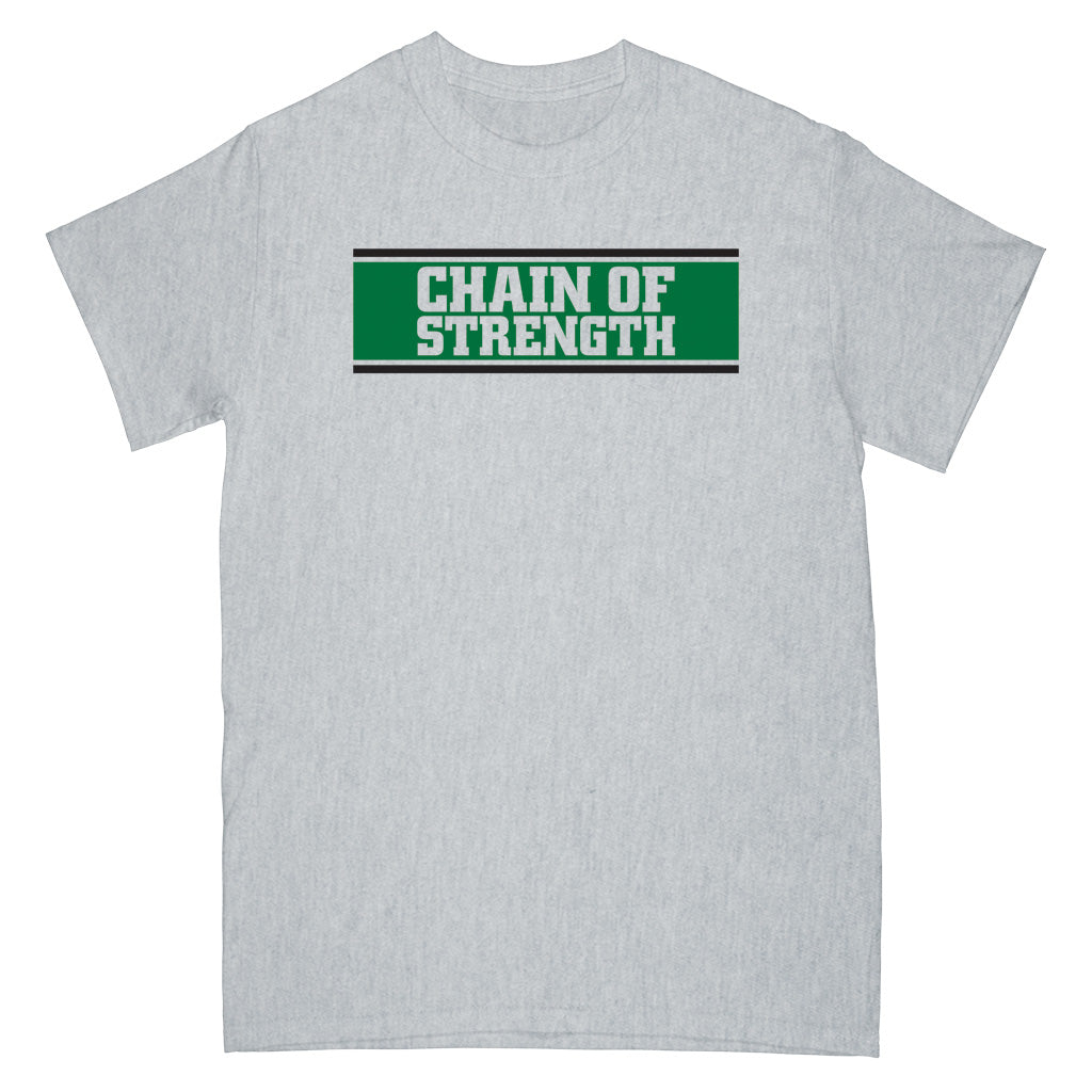 "REVSS29S Chain Of Strength ""The One Thing That Still Holds True (Grey)"" -  T-Shirt Front"