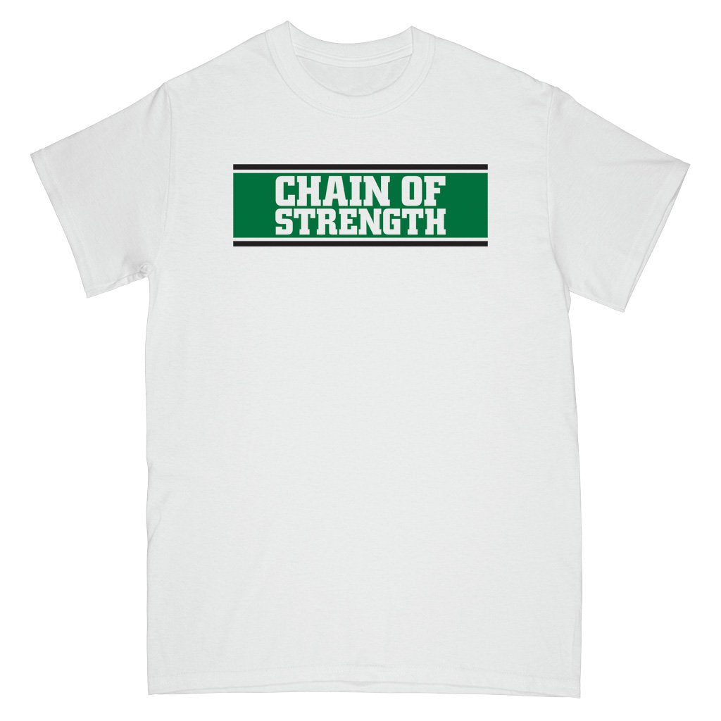 "REVSS29AS Chain Of Strength ""The One Thing That Still Holds True (White)"" -  T-Shirt Front"