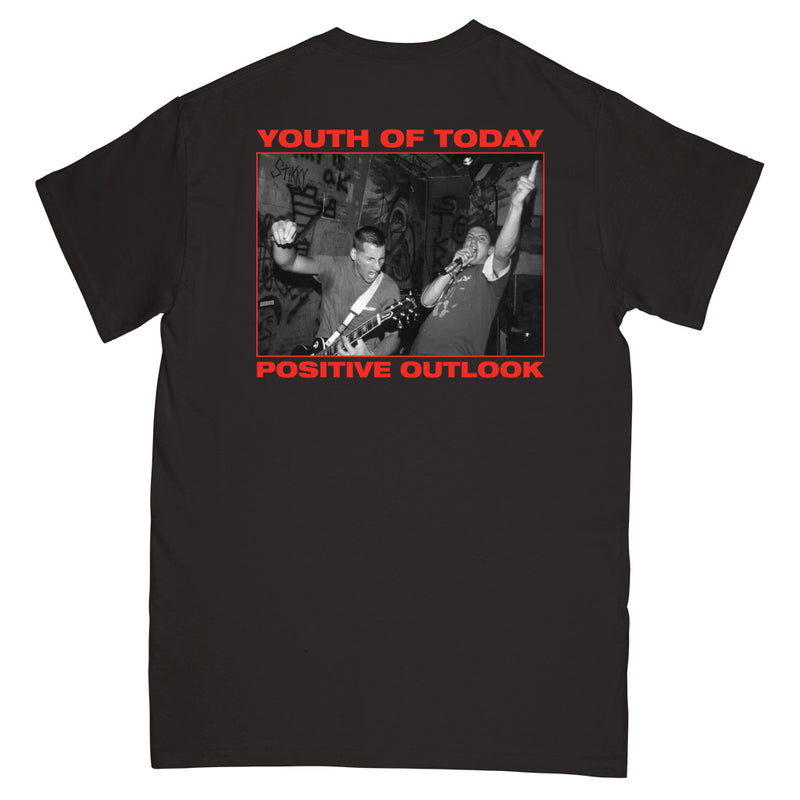 "REVSS33 Youth Of Today ""Positive Outlook (Black)"" - T-Shirt Front"