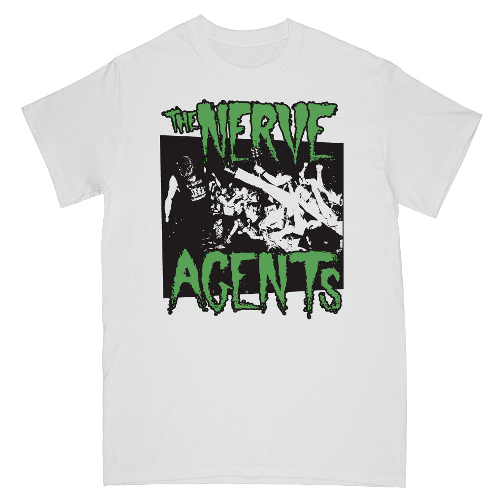 "REVSS73AS The Nerve Agents ""Live Photo (White)"" - T-Shirt Front"