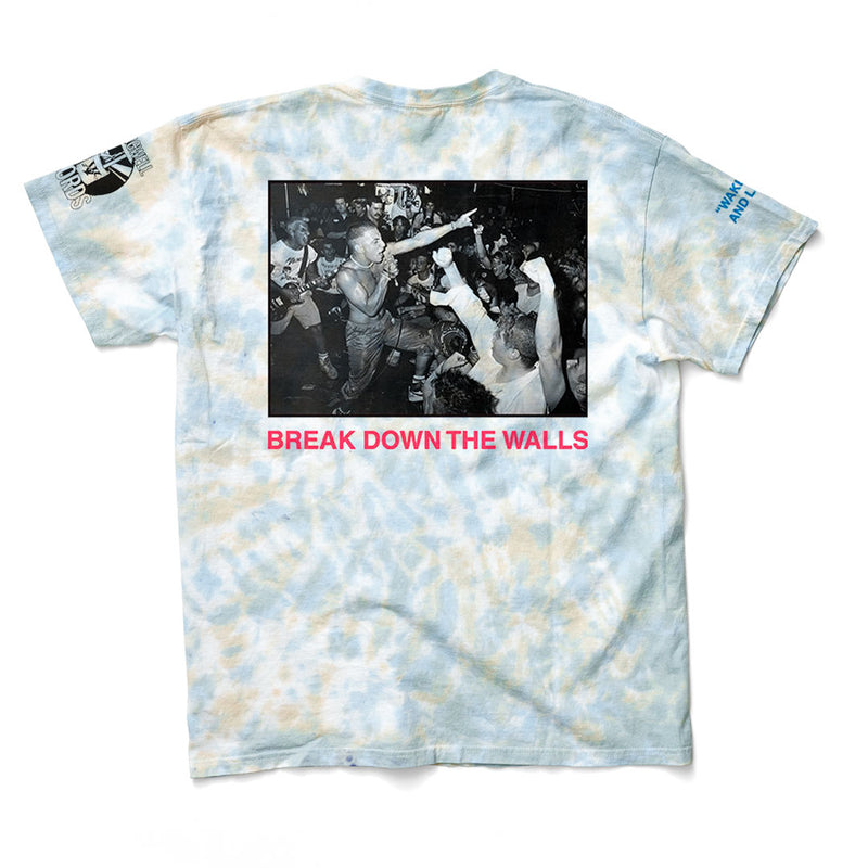 "Youth Of Today ""Break Down The Walls Tie-Dye (Red Print)"""