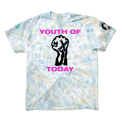 "Youth Of Today ""Break Down The Walls Tie-Dye (Purple Print)"""