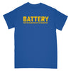 "REVSS970B Battery ""For The Rejected By The Rejected (Royal Blue)"" - T-Shirt Front"