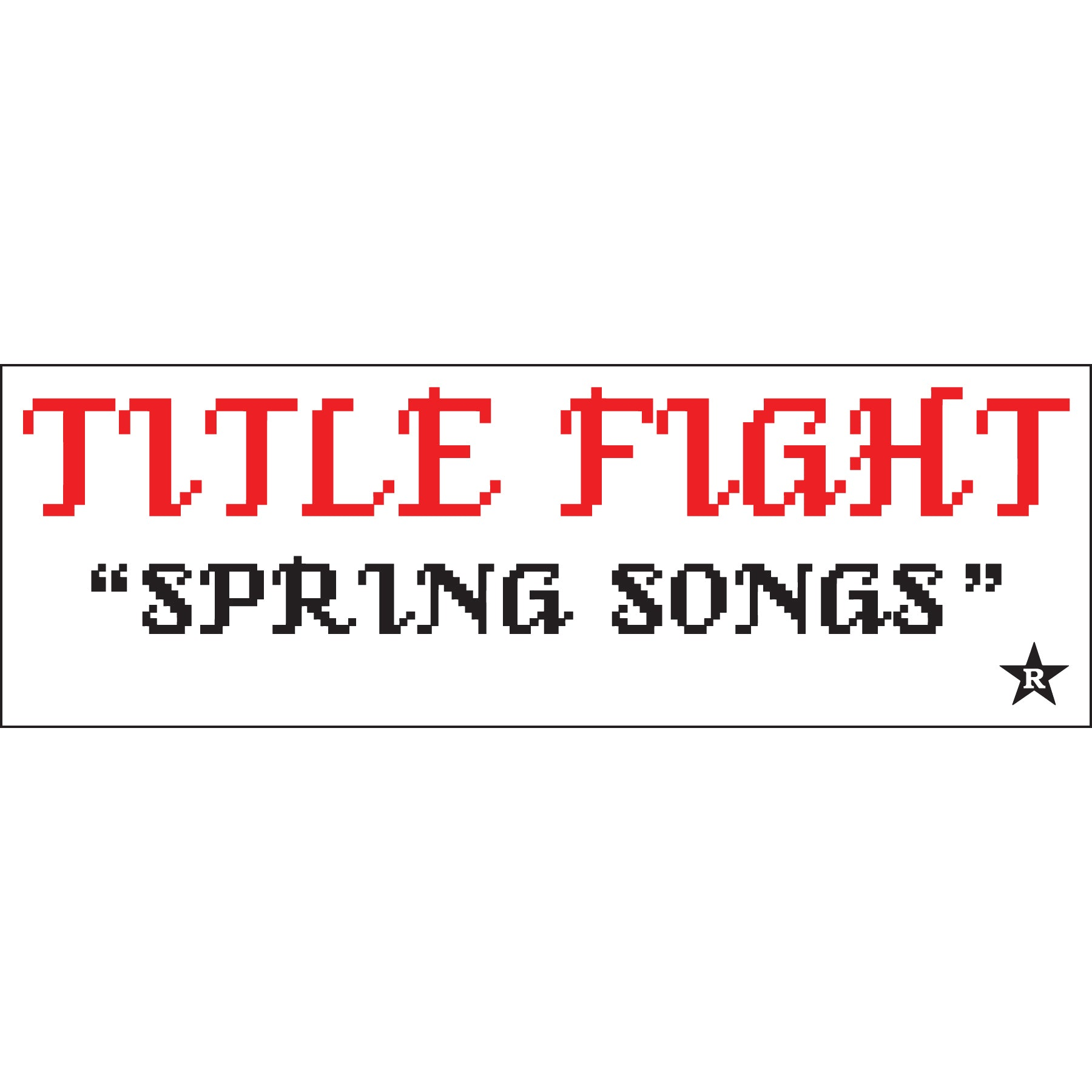 "REVST154 Title Fight ""Spring Songs"" - Sticker"