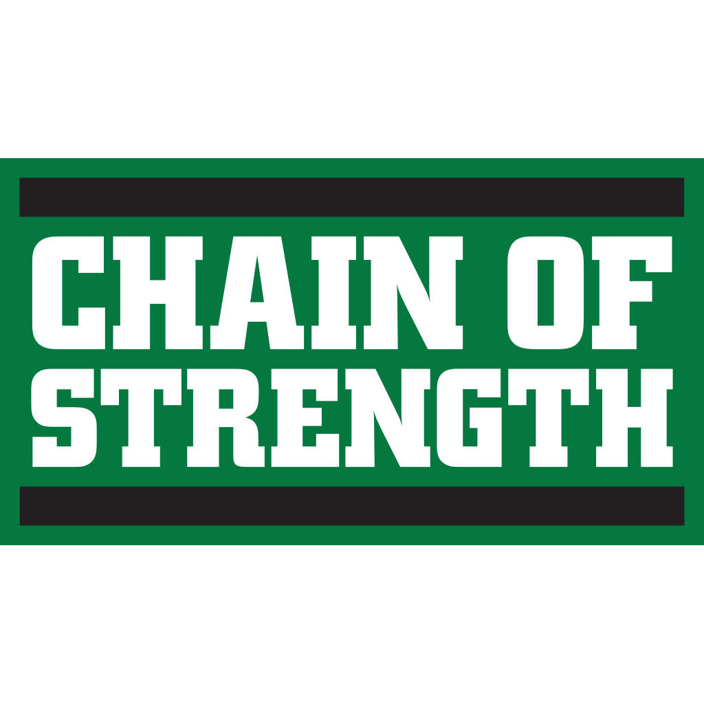 "Chain Of Strength ""Logo (Medium Green)"" - Sticker"