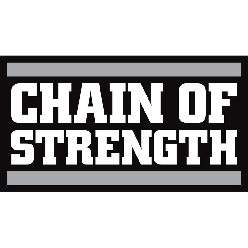 "Chain Of Strength ""Logo (Medium Black)"" - Sticker"