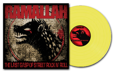 "SLNR33A-1 Ramallah ""The Last Gasp Of Street Rock N' Roll (Yellow)"" Mockup"