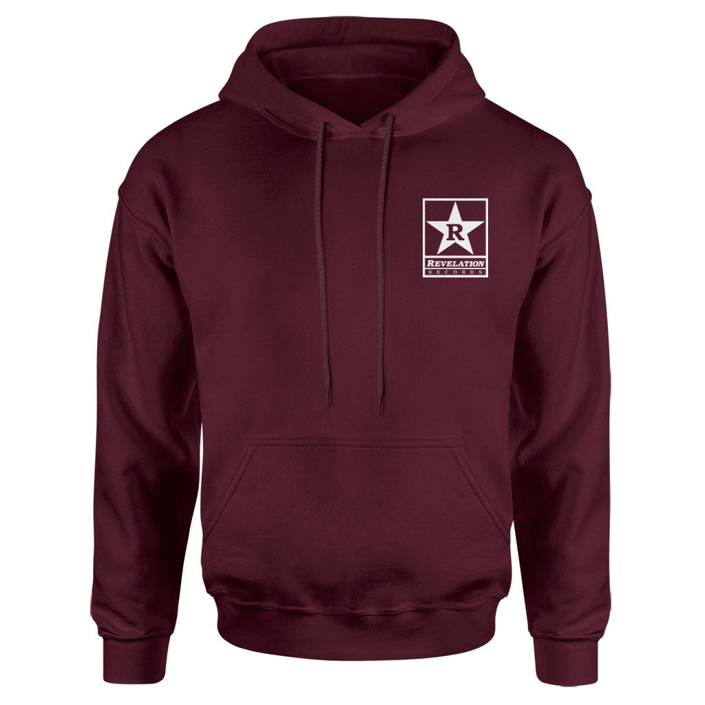 "Revelation Records ""Logo (Maroon)"" - Hooded Sweatshirt"