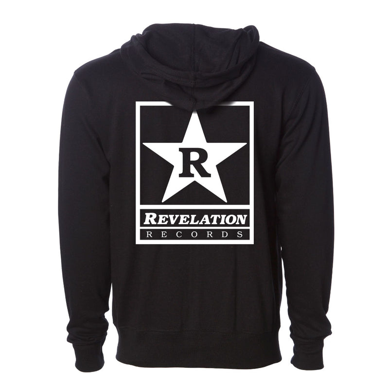 "Revelation Records ""Logo (Black)"" - Zipper Hooded Sweatshirt"