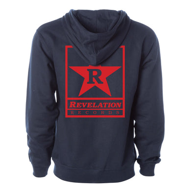 "Revelation Records ""Logo (Navy)"" - Zipper Hooded Sweatshirt"