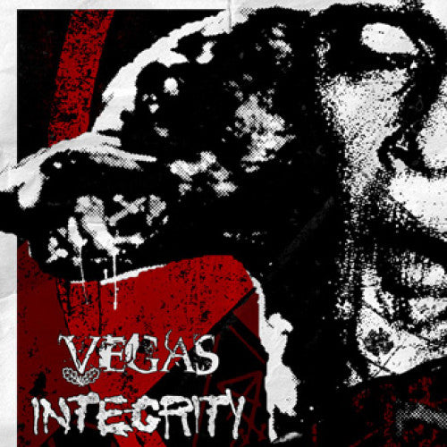 "ATHR142-1 Vegas / Integrity ""Love Me... I'm Bedazzled (Split)"" 7"" Album Artwork"