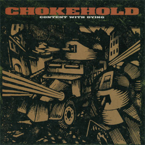 "ATHR164-1 Chokehold ""Content With Dying"" LP Album Artwork"