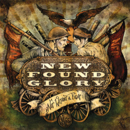 "B9R108-1 New Found Glory ""Not Without A Fight"" LP Album Artwork"