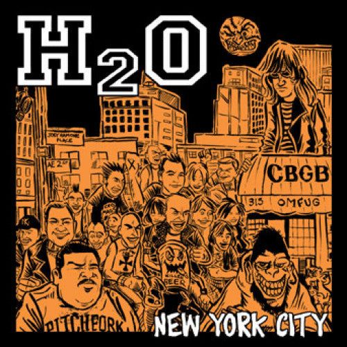 "B9R155-1 H2O ""New York City"" 7"" Album Artwork"