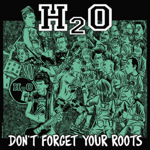 "B9R157 H2O ""Don't Forget Your Roots"" LP/CD Album Artwork"