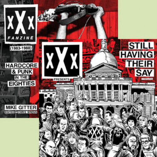 "B9R246-1 Mike Gitter ""xXx Fanzine (1983-1988): Hardcore & Punk In The Eighties"" -  Book+LP"