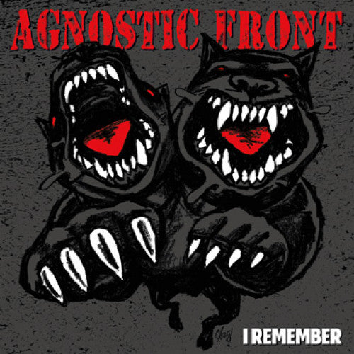 "B9R266-1 Agnostic Front ""I Remember"" 7"" Album Artwork"