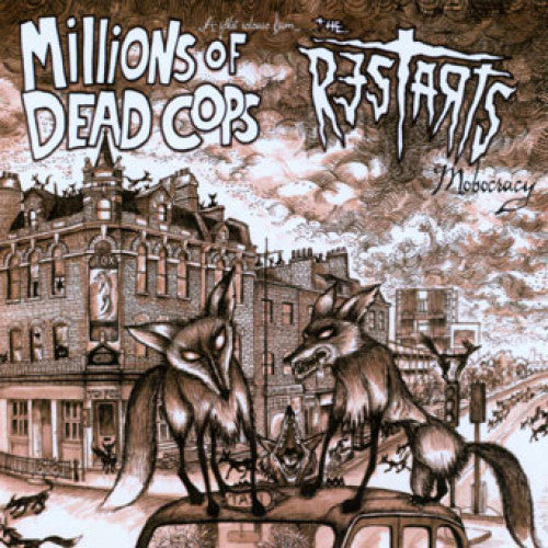 "BEER221-1 MDC / The Restarts ""Mobocracy (Split)"" LP Album Artwork"
