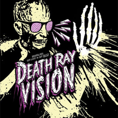 "BT029A-1 Death Ray Vision ""Get Lost Or Get Dead"" 7"" - Yellow Album Artwork"